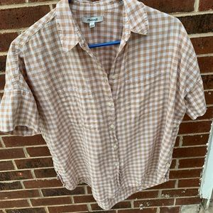 Madewell - Summer Gingham Boxy Button-Up (S)